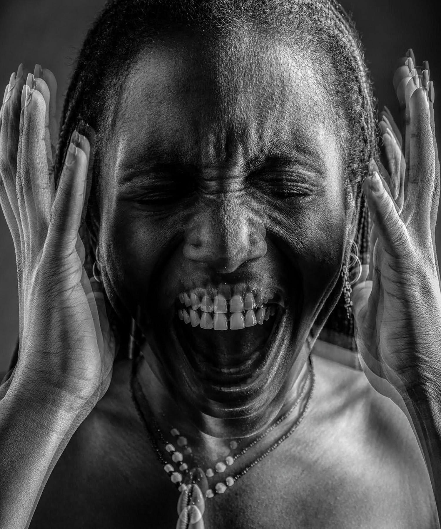 """Scream,"" inkjet prints on pictorico film, by Sarah Townsend '20"